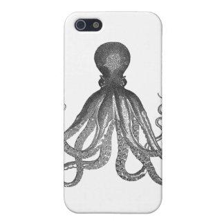 Kraken - pulpo gigante negro/Cthulu iPhone 5 Fundas
