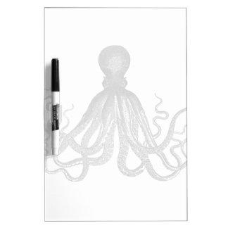 Kraken - pulpo gigante negro/Cthulu Pizarras Blancas De Calidad