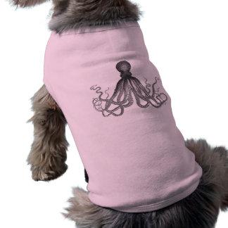 Kraken - pulpo gigante negro Cthulu Camiseta De Perro