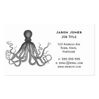 Kraken - pulpo gigante negro/Cthulu Plantillas De Tarjetas De Visita