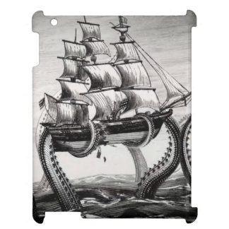 Kraken que soporta un pirata/un caso del iPad del