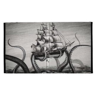 Kraken que soporta un pirata/un folio del iPad del