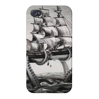 Kraken que soporta un pirata un iPhone 4 S del vel iPhone 4/4S Carcasas