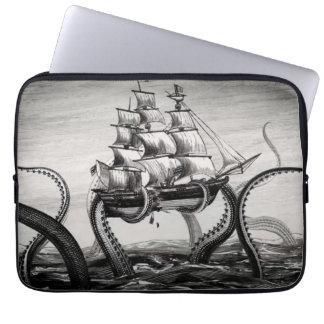 """Kraken que soporta un pirata/un velero 13"""" manga funda ordendadores"""