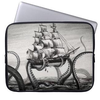 """Kraken que soporta un pirata/un velero 15"""" manga funda portátil"""