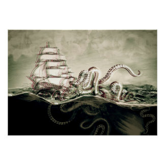 Kraken Screen prints Poster