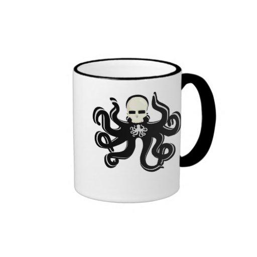 KRAKEN SKULL TATTOO ART PRINT RINGER COFFEE MUG
