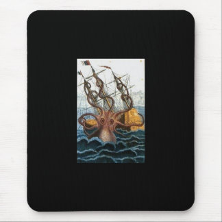 Kraken Steampunk Octopus Vintage Mouse Pad