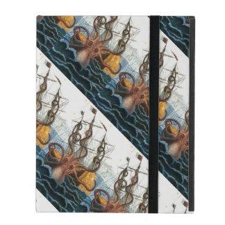 Kraken | Steampunk Vintage Giant Octopus Pattern iPad Folio Case