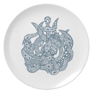 Kraken The Sea Monster Melamine Plate