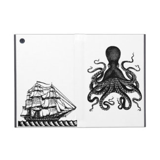 Kraken vs Pirate Ship ipad Case Steampunk love