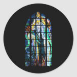 Krakow Church of St. Francis Stained Glass Round Sticker