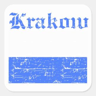 Krakow City designs Square Sticker