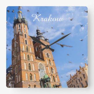 Krakow Square Wallclock