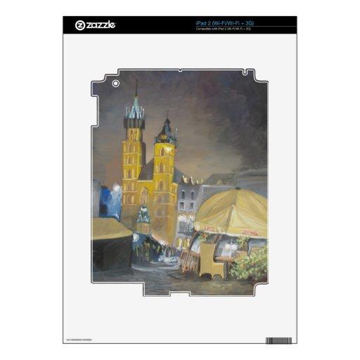 Kraków en la noche calcomanías para el iPad 2