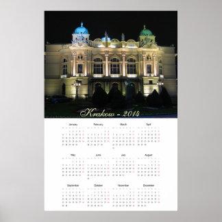 Kraków Juliusz Słowacki Theatre.  calendar 2014 Poster