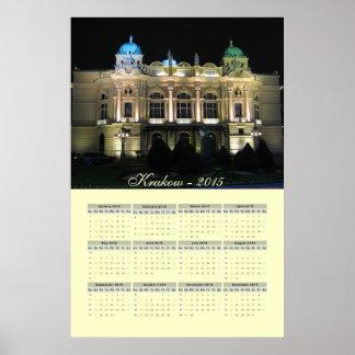 Kraków Juliusz Słowacki Theatre.  calendar 2015 Poster
