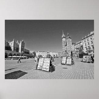 Krakow, Main Market Square, Poland, wall poster
