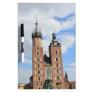 Krakow, Mariacki Church, St Mary's church, gifts Dry Erase Board