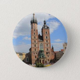 Krakow, Mariacki Church, St Mary's church, gifts Pinback Button