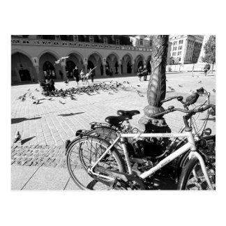 Krakow, Old Town, Poland black and white postcard