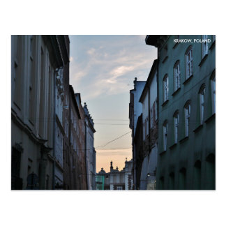 Krakow Old Town, with City Text Postcard