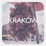 Kraków Pegatinas Cuadradas Personalizadas