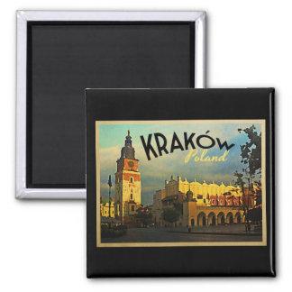 Krakow Poland 2 Inch Square Magnet