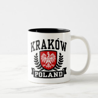 Krakow Poland Two-Tone Coffee Mug