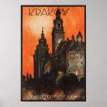 Krakow Poland - Vintage Polish Travel Poster