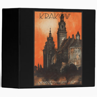 Krakow Poland - Vintage Polish Travel Poster Binder