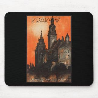 Krakow Poland - Vintage Polish Travel Poster Mouse Pad
