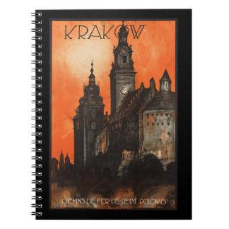 Krakow Poland - Vintage Polish Travel Poster Note Book