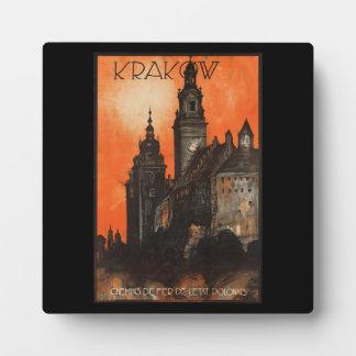 Krakow Poland - Vintage Polish Travel Poster Display Plaques