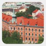 Kraków, Polonia Calcomanias Cuadradas