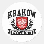 Kraków Polonia Pegatina Redonda