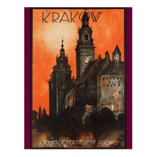 Kraków Polonia - poster del viaje del polaco del Postal