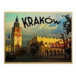 Kraków Polonia Tarjeta Postal