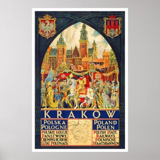 Krakow Polska Pologne Poster