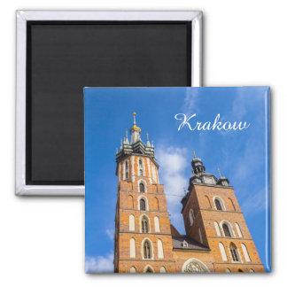Krakow, St Marys church, Poland, magnet