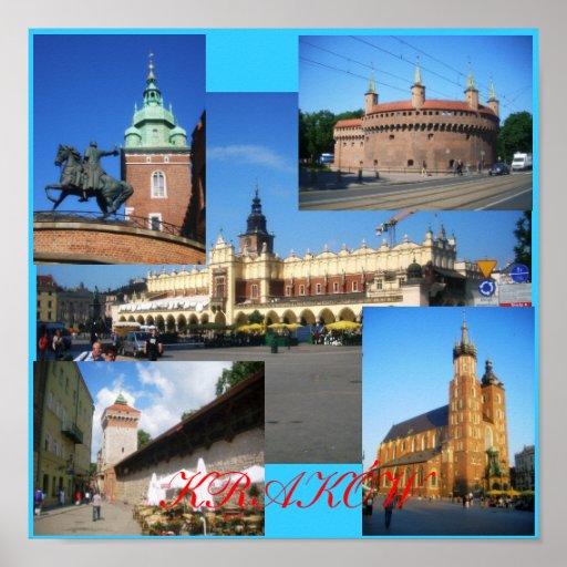 Krakow Towers Print
