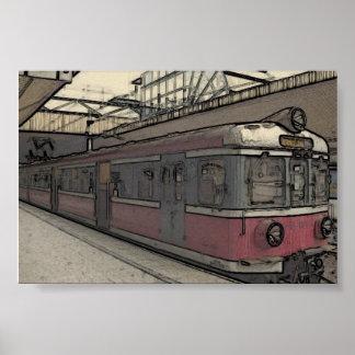 Krakow Train Poster