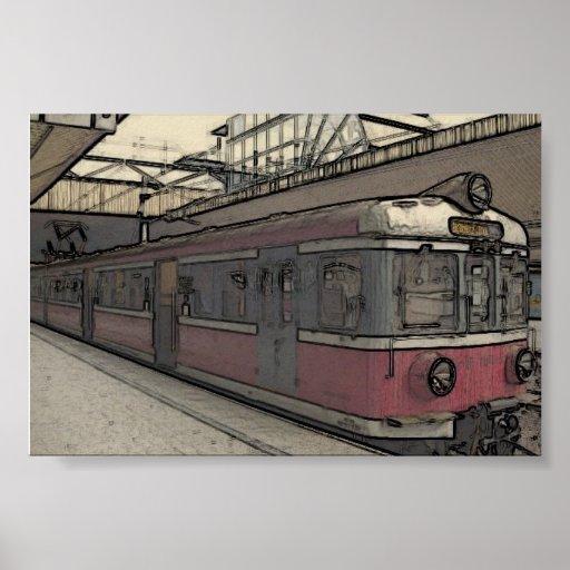 Krakow Train Print
