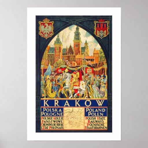 Krakow Vintage Travel Posters