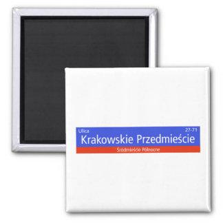 Krakowskie Przedmiescie Warsaw Polish Street Sig Magnet