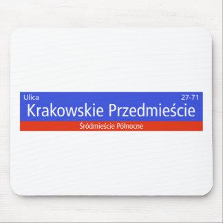 Krakowskie Przedmiescie, Warsaw, Polish Street Sig Mouse Pad