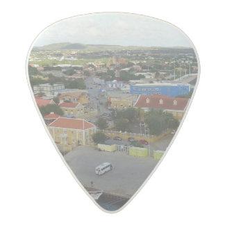 Kralendijk Harborfront Acetal Guitar Pick