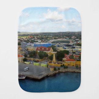Kralendijk Harborfront Burp Cloth