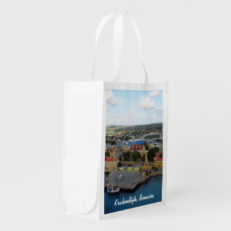 Kralendijk Harborfront Custom Grocery Bag