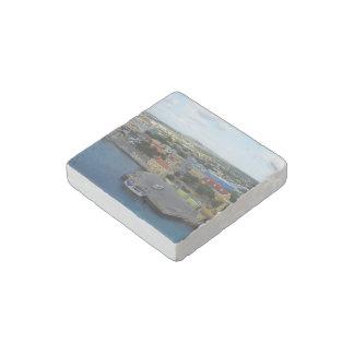 Kralendijk Harborfront Stone Magnet